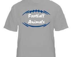 """New York"" Gray Football Animals T-Shirt"