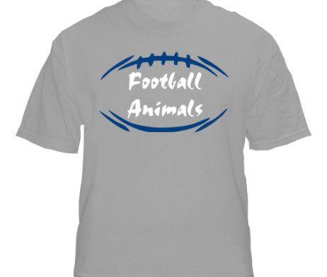 """New York"" Gray Football Animals T-Shirt"