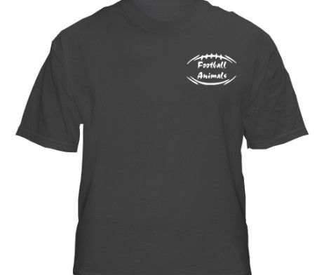 Sports Animal Black Shirt - Front