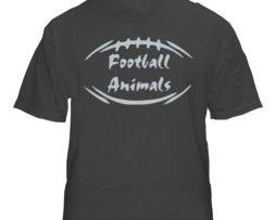 Sports Black Animal Football T-Shirt
