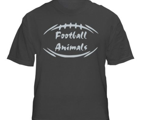 Sports Black Animal Football T-Shirt